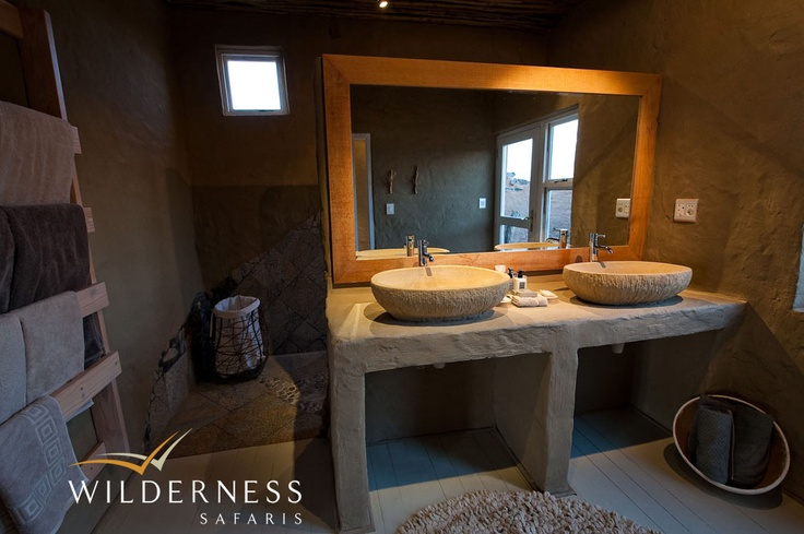 Little Kulala - All rooms  have  both indoor and outdoor showers. #Safari #Africa #Namibia #WildernessSafaris