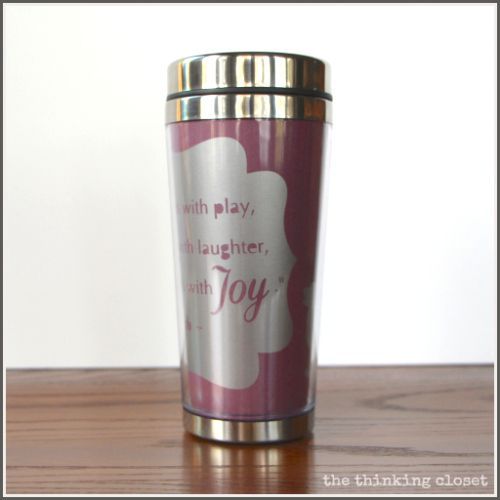 Personalized Insulated Mug Tutorial