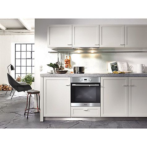 Buy Miele H2161B-1B ContourLine Single Electric Oven, Clean Steel Online at johnlewis.com