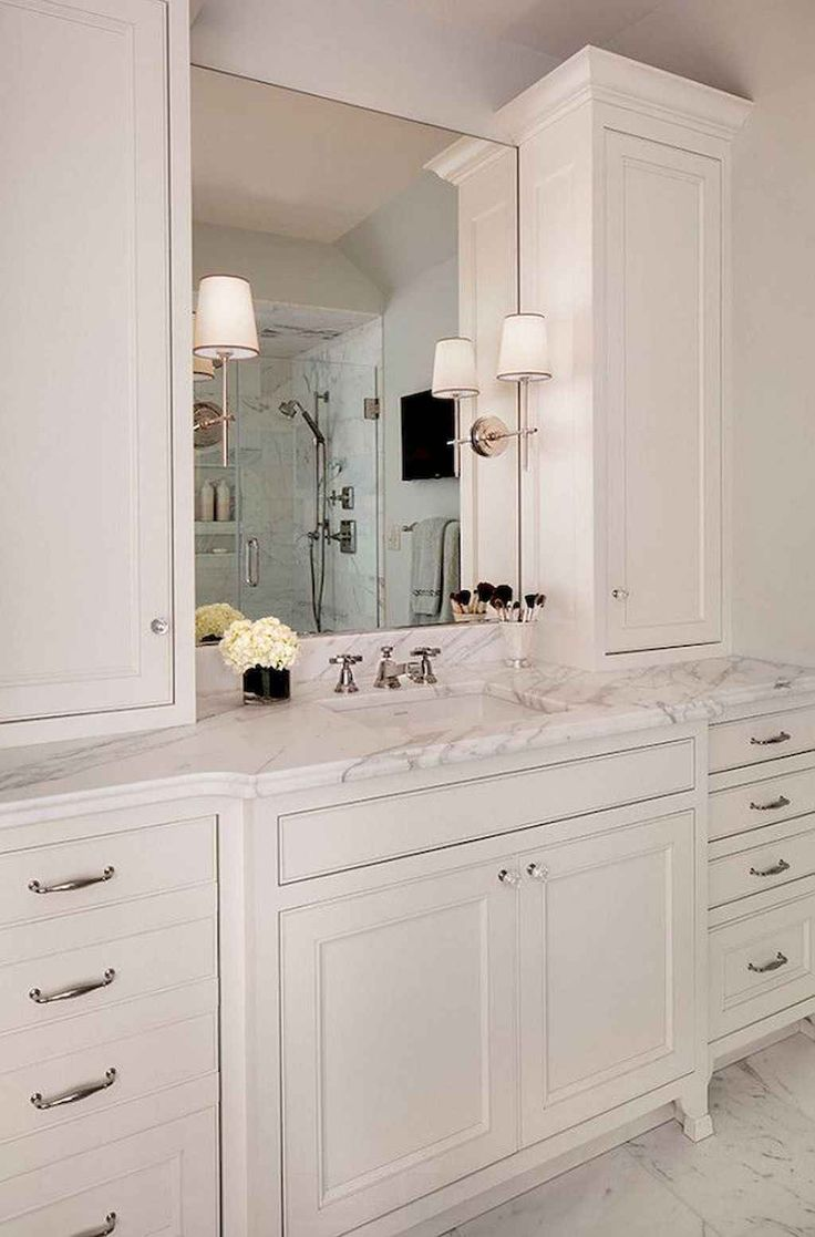 Best 55 Gorgeous Bathroom Cabinet Remodel Ideas Freestanding 400 x 300