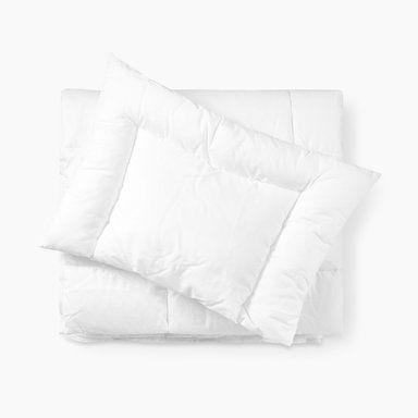 Täcke & kudde för spjälsäng, vit