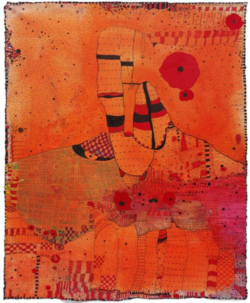 Huguette Caland #art #orange #paintings