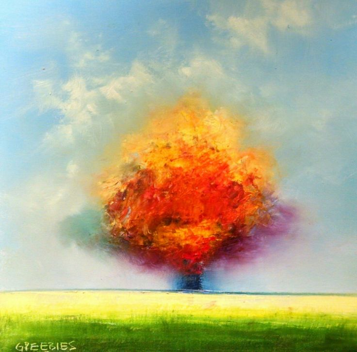 FINEARTSEEN - Autumn Splendor by George Peebles. A beautiful original Autumn landscape painting. Available on FineArtSeen - The Home Of Original Art. Enjoy Free Delivery with every order. << Pin For Later >>