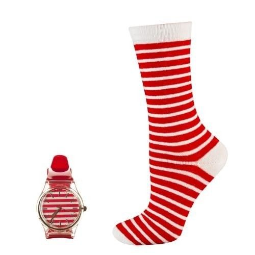 SOXO Women's set: socks + wristwatch   WOMEN \ Socks   SOXO socks, slippers, ballerina, tights online shop