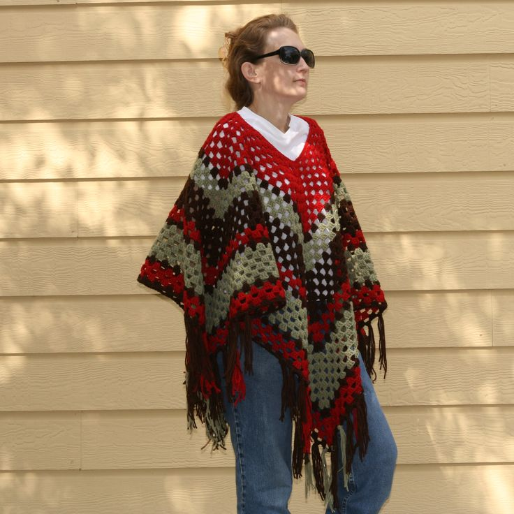 Girls and Grannies - a free crochet poncho pattern