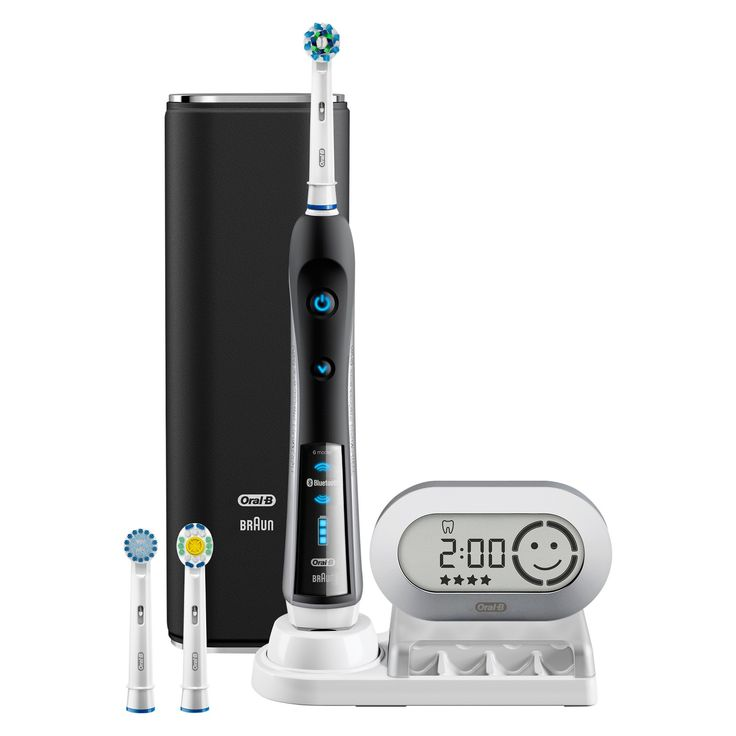 The Oral-B Pro 7000 SmartSeries Power Rechargeable Electric Toothbrush removes up to 500% more plaque*. Bluetooth Connectivity to help you brush like your dentist recommends by connecting with your smartphone to give you real-time feedback on your brushing habits. The Pro 7000 couples the precision engineering of Braun with the dental experience of Oral-B to deliver superior cleaning*. The pressure sensor lights up if you brush too hard to prevent harmful over-brushing. There are 6 modes to…