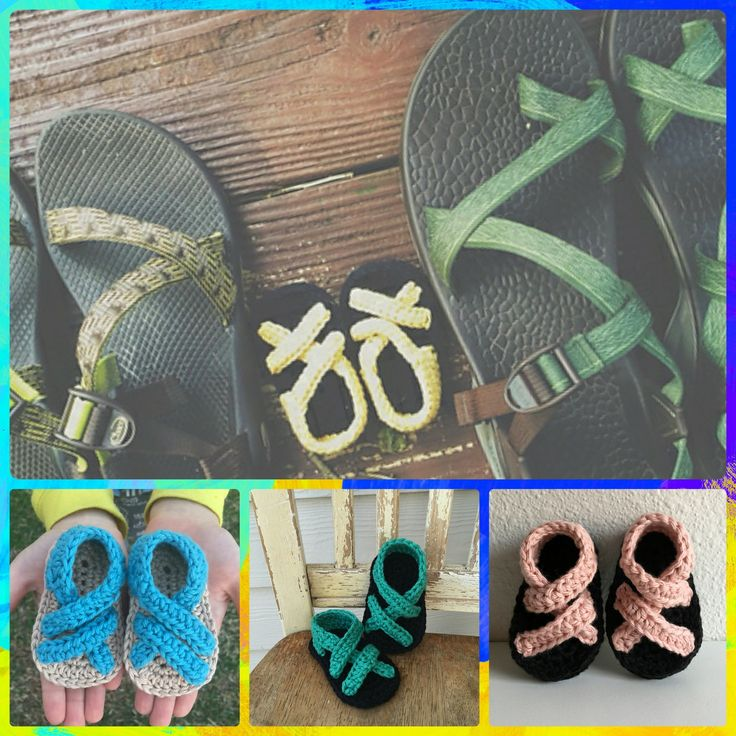 """Trail Trekkers Launch Sale ~ Just $2.49 ☀️ Designed by Chloe's Crocheted Creations.  Now you can get this sweet pattern to make your own customized Chaco sandals for your little one. Just """"add to cart"""", and the discount will be applied.  http://www.ravelry.com/patterns/library/trail-trekkers Remember to share with all your crafty friends and share the fun.  #designershare #yarnplay #sale #summer #2017 #crochetersofinstagram #melodysmakings"""