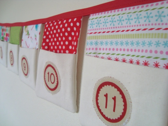 Advent bunting with pockets