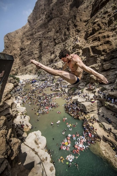 Red Bull Cliff Diving World Series final in OMAN