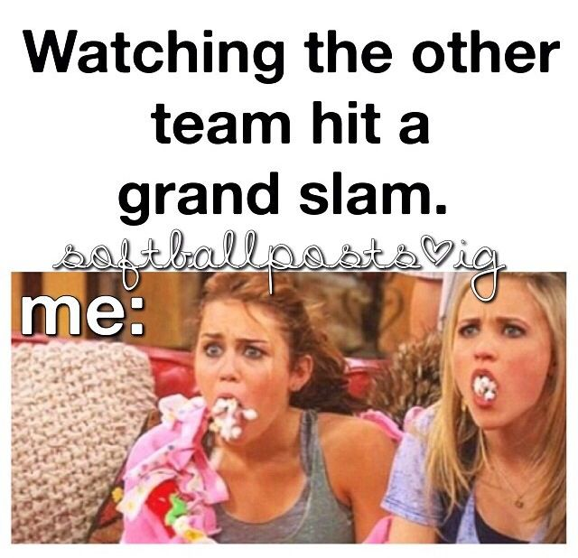 thankfully I was on the team that hit the grand slam