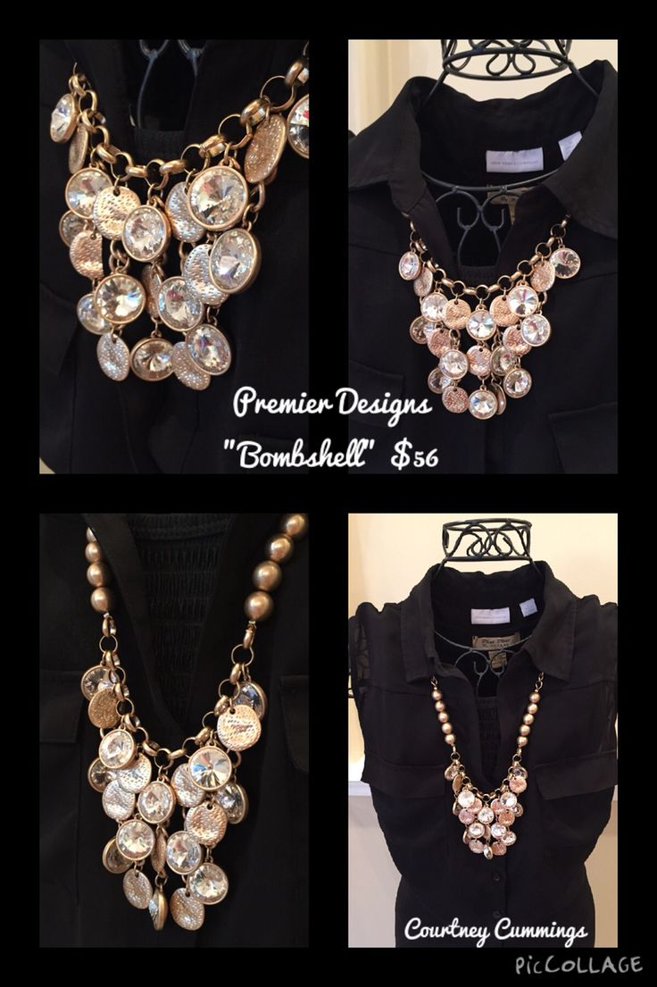The Bombshell necklace says it all. Absolutely gorgeous! This piece is from our 2015-2016 Premier Designs Jewelry catalog and will be your #1 jewelry accessory in no time! Email me to purchase or find out how to get for Free: courtlynnjeweler.premier@gmail.com