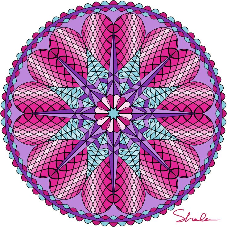 Valentine Mandalas coloring pages