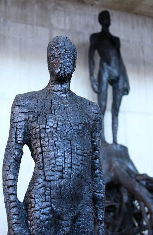 Burned Wood - Sculpture collection by Aron Demetz