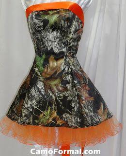 Non Traditional Bridesmaids Dresses - Camo Bridesmaid Dress www.planitcfl.blogspot.com