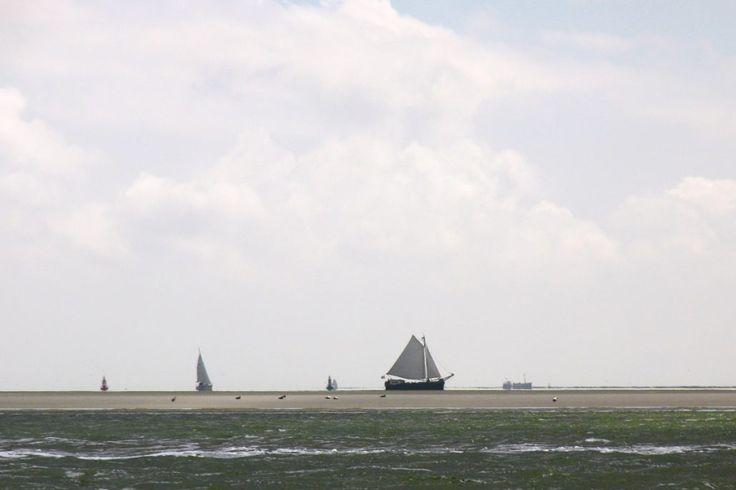 West-Terschelling, Groene strand, Noordvaarder, Zeilschepen aan de Kim www.pieterbroertjes.nl
