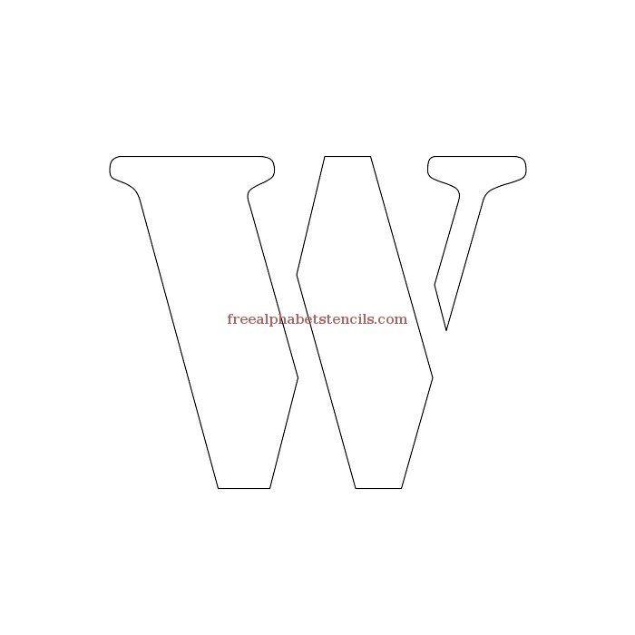 Uppercase Alphabet Stencil W