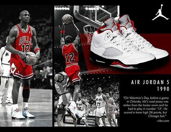 Michael Air Jordan wearing the retro V 5 shoes and  12 jersey in the ... 1db0e21d2