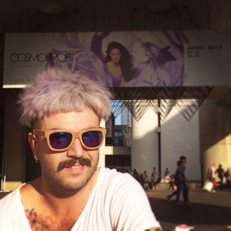 @ralerisrl: [Cosmoprof face #2] Special guest: Raleri Ecolution Sunglasses.  #cosmoprof #bologna #sunglasses #raleri #bamboo.