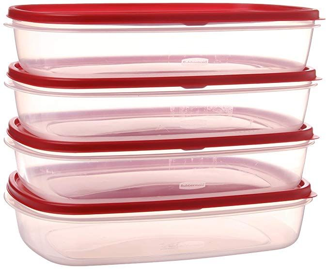 Rubbermaid Synchkg096961 644766082353 Easy Find Lid Food Storage Container Bpa Free Plastic 1 1 2 Gal 4 Pack Clear Review Food Storage Containers Food Storage Bpa Free Plastic