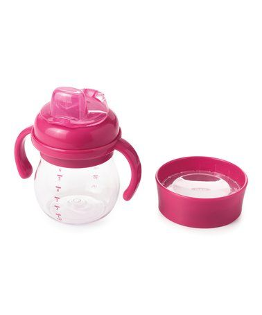 Love this Pink 6-Oz. Transitions™ Soft-Spout Sippy Cup & Open Trainer Lid on #zulily! #zulilyfinds