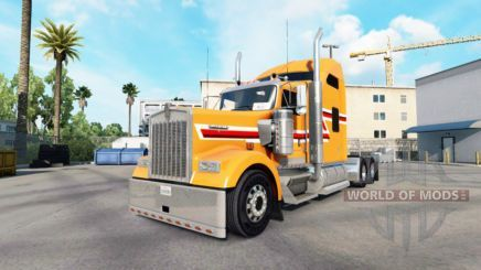 Skin Dust Orange on the truck Kenworth W900 for American Truck Simulator #EverythingOrange