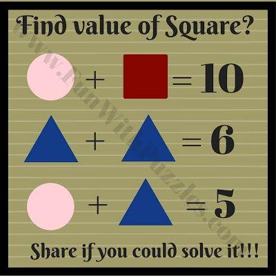 Shapes math equation brain teaser
