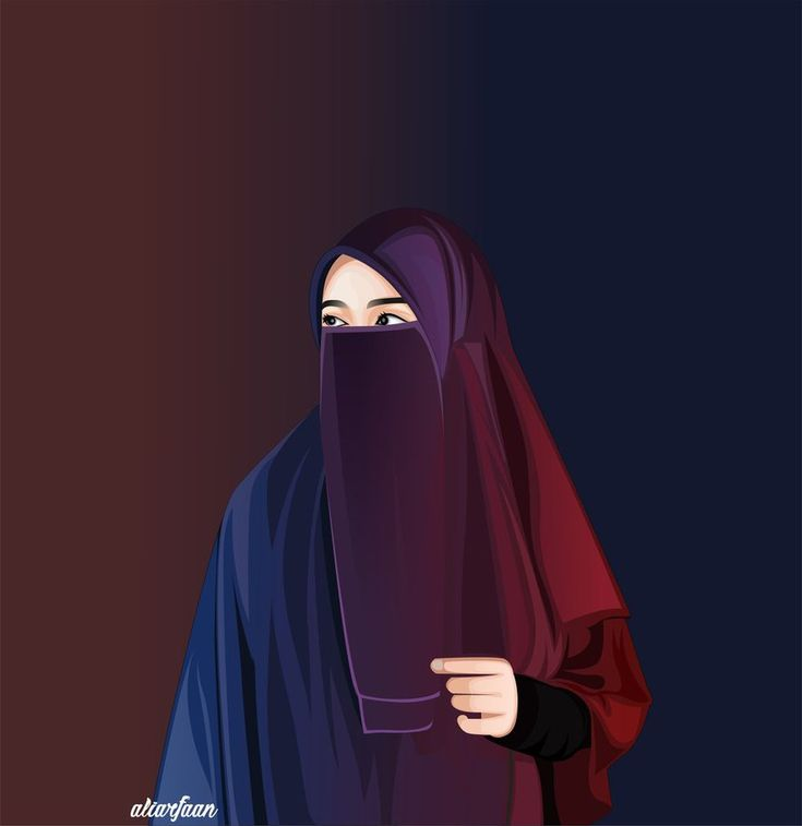 15 best Hijab vector images on Pinterest Cartoon girls