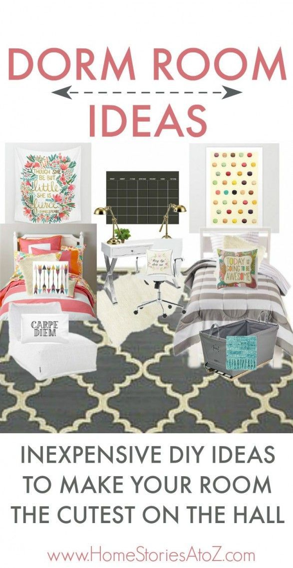 Decorating ideas, Room ideas and Dorm on Pinterest ~ 151524_Inexpensive Dorm Room Ideas