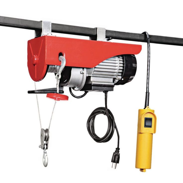 440 lb electric hoist with remote control garage lift