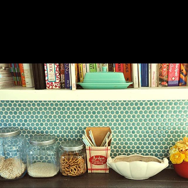 Kitchen Tiles - small hexagons