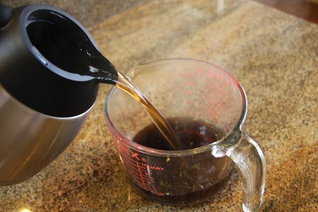You won't believe how easy it is to clean the inside of your gross coffee pot! NO SCRUBBING!!