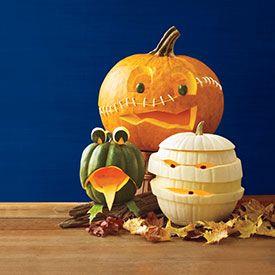 7 Creative Pumpkin-Carving Ideas | via @Woman's Day #Halloween #decor #home