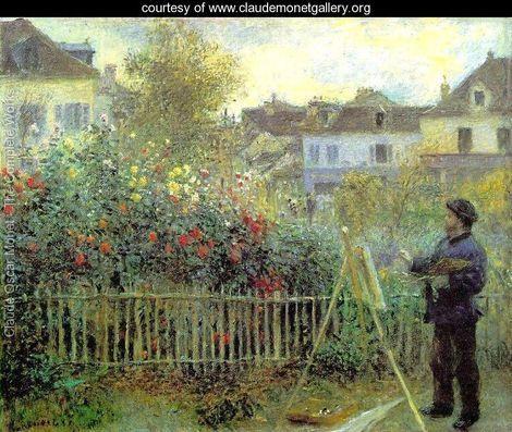 Renoir Painting In His Garden (1873) - Claude Oscar Monet - www.claudemonetgallery.org