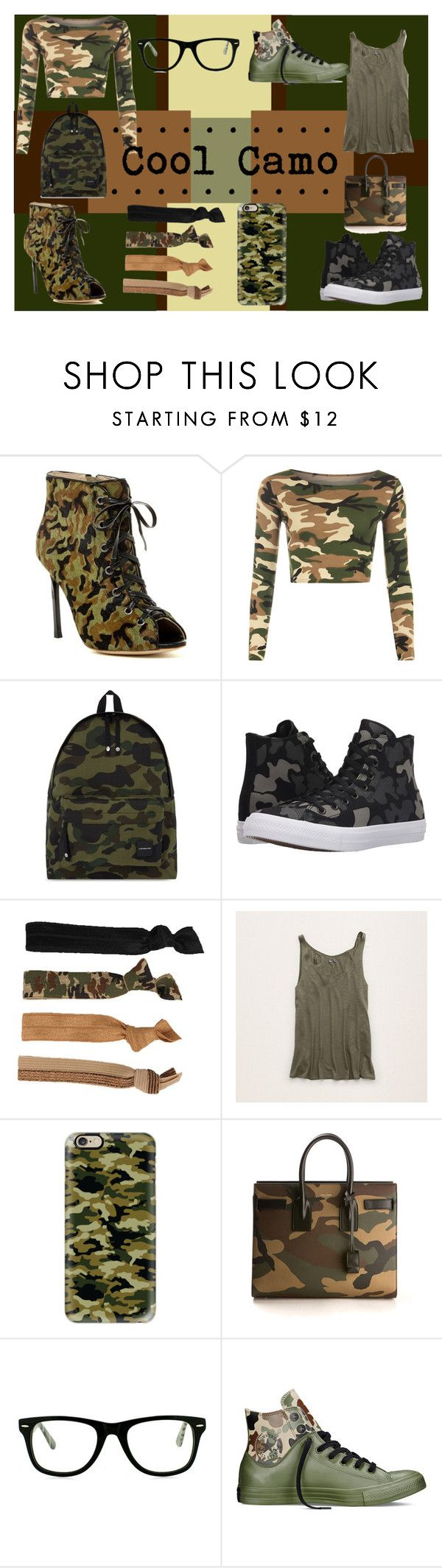 """""""Cool Camo!"""" by lccrabngurl2 ❤ liked on Polyvore featuring Cecelia, WearAll, A BATHING APE, Converse, Glam Bands, Aerie, Casetify, Yves Saint Laurent and Muse"""