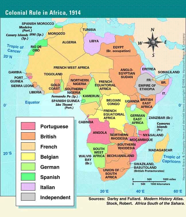 The dispute over land was between European countries, not about the African people. Tensions had mounted over competing claims.