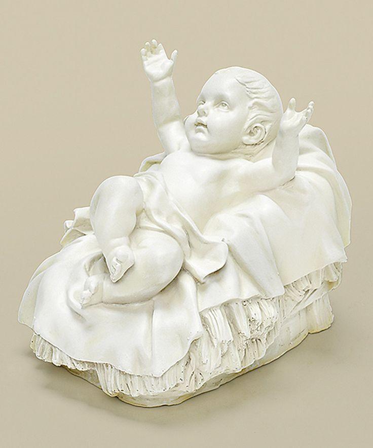 """This White Jesus Nativity Garden Statue 6.25"""" H by Roman is perfect! #zulilyfinds"""