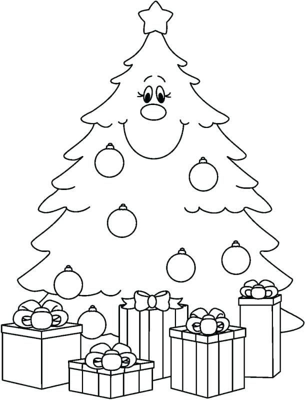 Christmas Tree Coloring Pages For Preschoolers See The Category To