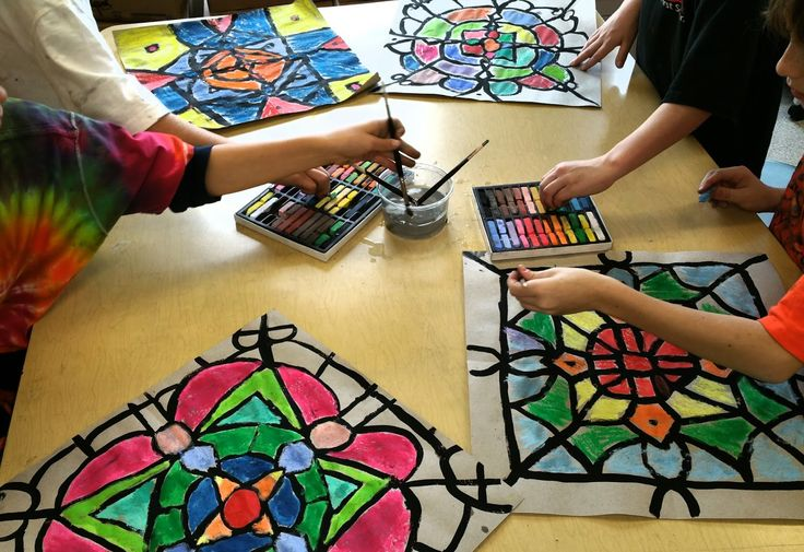 Paintbrush Rocket: 4th Grade Mandalas with Chalk Pastels