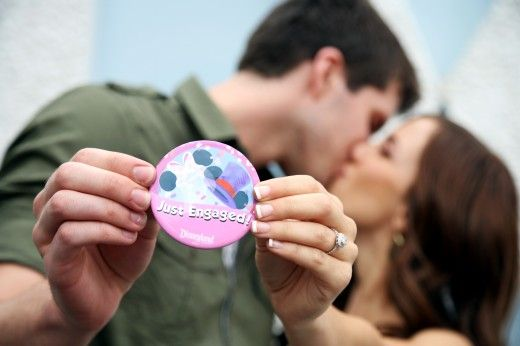 "Too cute ♥ I love the idea of having engagement pictures taken at the ""happiest place on earth"" :) ♥"