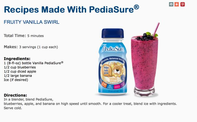 18 Best Recipes With Pediasure Images On Pinterest Baby