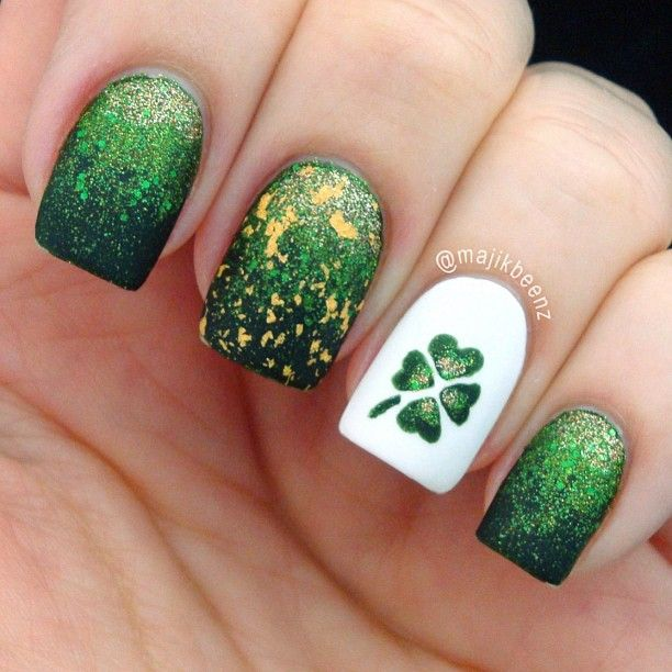 128 best St. Patrick\'s Day Nail Design images on Pinterest | Holiday ...