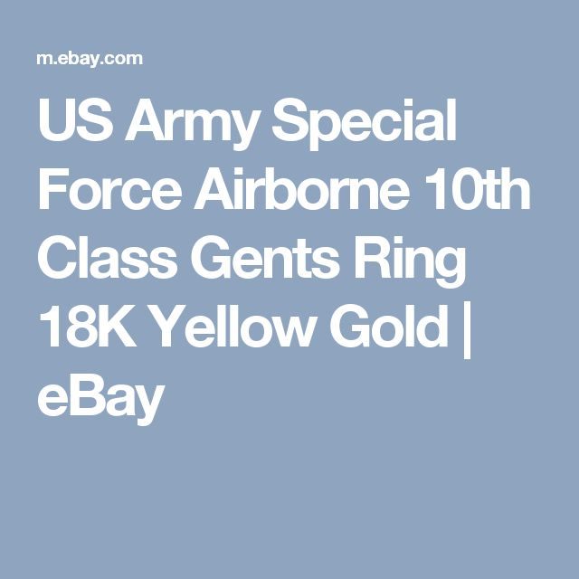 US Army Special Force Airborne 10th Class Gents Ring 18K Yellow Gold | eBay