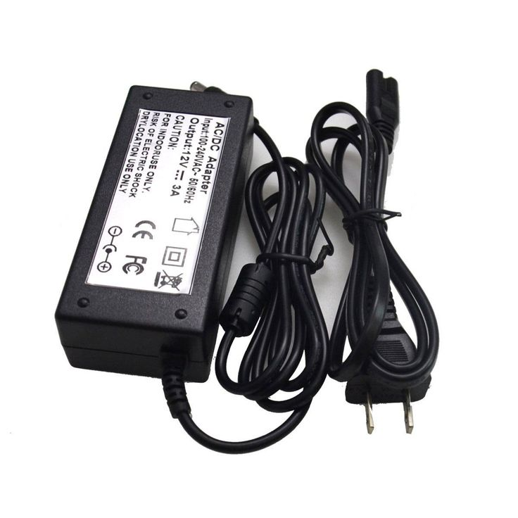 LED Power Supply Adapter 100V - 240V To DC 12V 3A 36W with USA Plug and DC Connector for 5050 3528 Led Strip light(3A 36W)