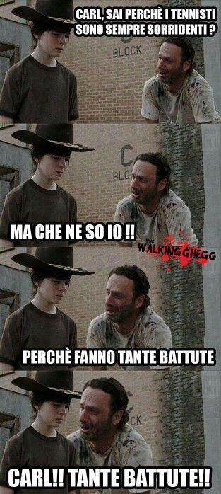 Carl rick walking dead