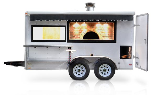 mobile pizza oven trailer, portable wood fired oven for catering, pizza trailer, portable pizza oven