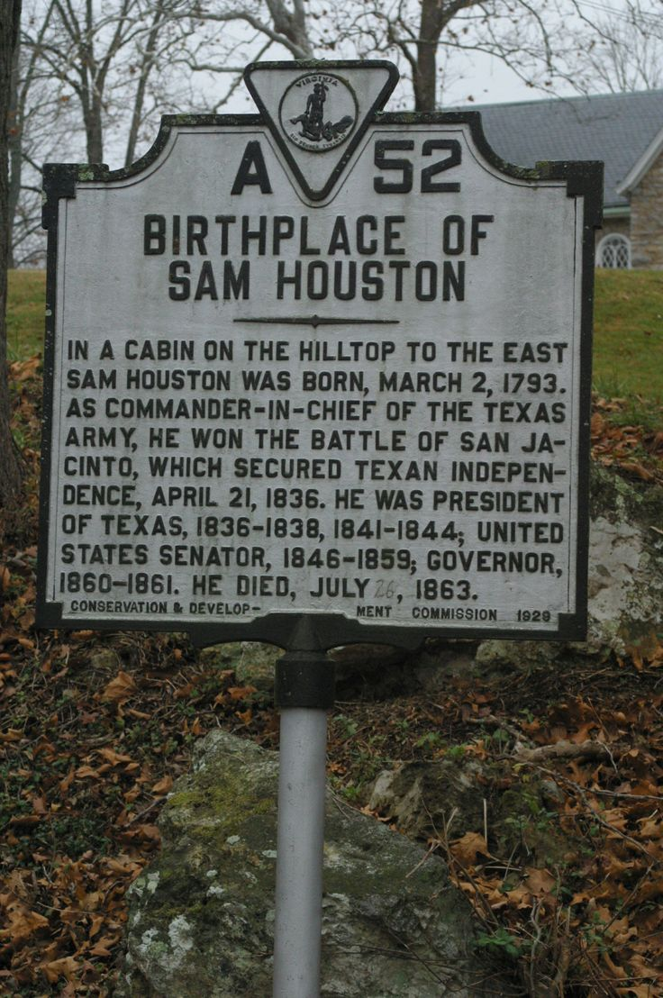 Sam Houston Slept Here Too