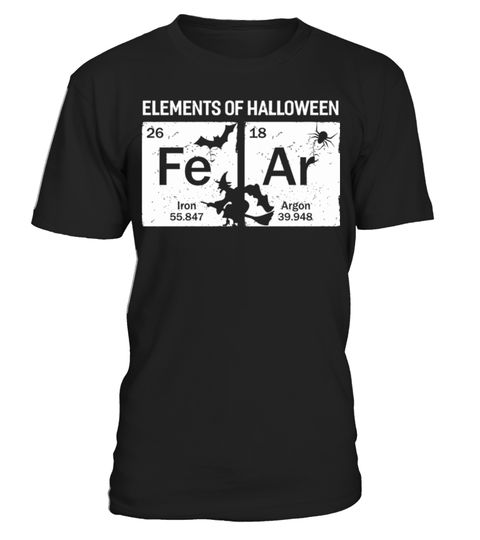 # Element of Halloween Science Tee Shirt .  pumpkin, Halloween, suit, witch, science, bavaria, Tee, alaaf, colonia, lantern, dirndl, carneval, chemistry, element, table, costume, jackolantern, ghost, halloween, kölle, leather, pants, trick, or, treat, Science, periodic, kölsch