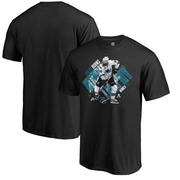 Brent Burns San Jose Sharks Fanatics Branded 2017 NHL Norris Trophy Winner T-Shirt - Black - $29.99