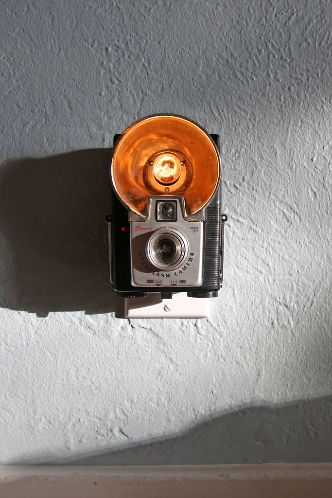 Nightlights - repurposed (not pristine) vintage cameras from the 1950s and 1960s - @Heather Gray
