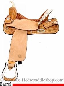 """14"""" 15"""" 16"""" Genuine Billy Cook Saddle, Barrel Saddle 1524"""